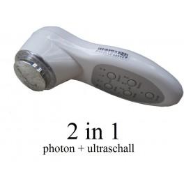 Tragbares Ultraschallgerät 2in1 Ultraschalltherapie 3MHz + Lichttherapie PHOTON