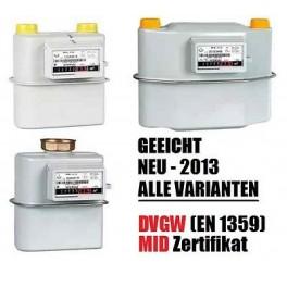 GASZÄHLER G4, ZWEIROHR, EINROHR 130 250 DN25 ANSCHLUßSET